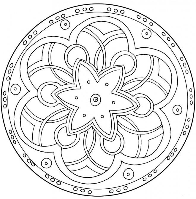 Coloriage Mandala Facile Magique Dessin Gratuit à Imprimer
