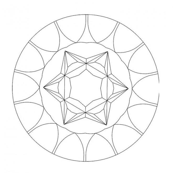 Coloriage et dessins gratuits Mandala Facile maternelle à imprimer