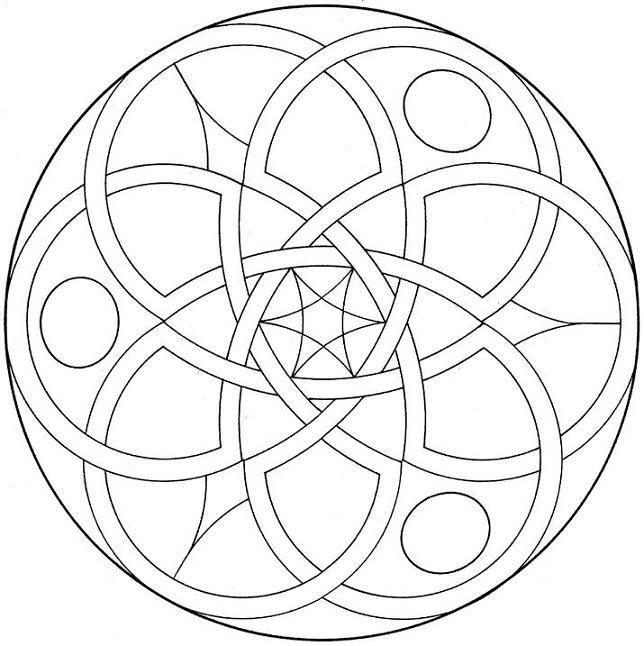 Coloriage et dessins gratuits Mandala Facile pour découpage à imprimer