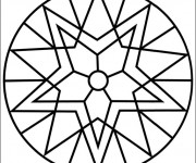Coloriage Mandala Facile pour tous le Monde