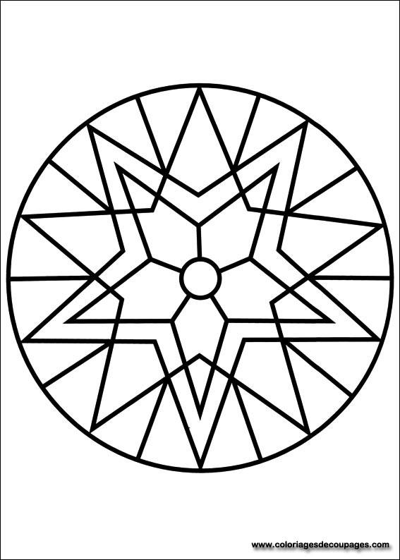 Coloriage Mandala Facile gratuit à imprimer liste 20 à 40