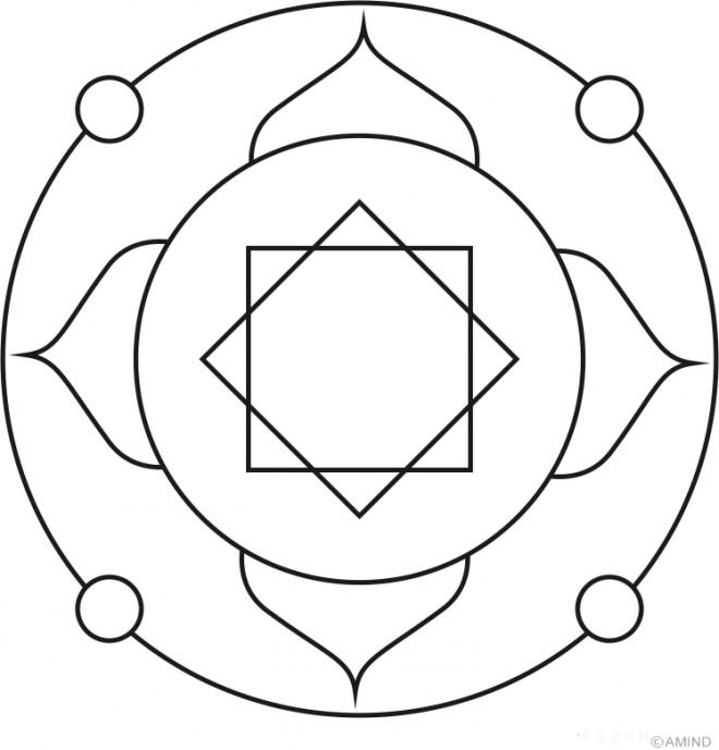 Coloriage et dessins gratuits Mandala Facile splendide à imprimer