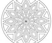 Coloriage Mandala Facile stylisé