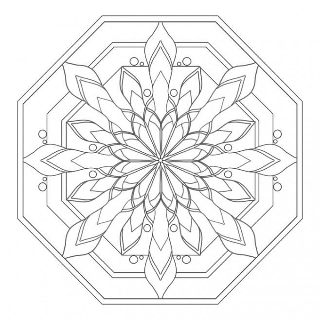Coloriage et dessins gratuits Mandala Facile superbe à imprimer