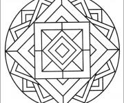 Coloriage et dessins gratuit Mandala Facile sur ordinateur à imprimer