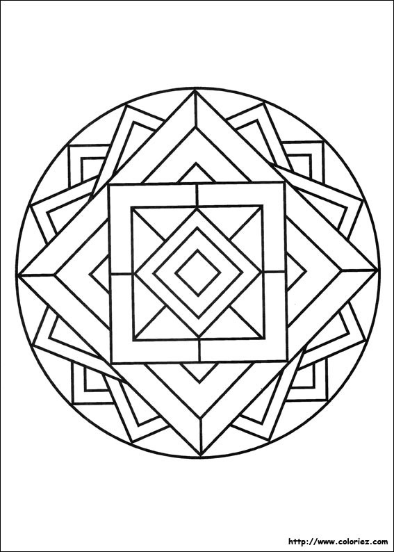 Coloriage Mandala Facile Sur Ordinateur Dessin Gratuit A Imprimer