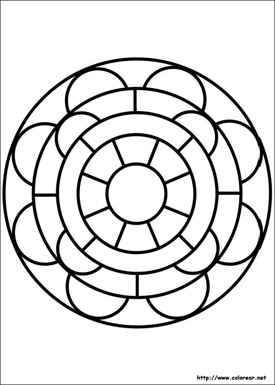 Coloriage et dessins gratuits Mandala Facile vectoriel à imprimer