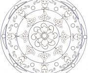 Coloriage et dessins gratuit Mandala Fleur relaxante à imprimer