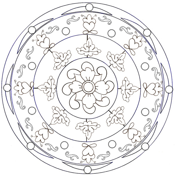 Coloriage et dessins gratuits Mandala Fleur relaxante à imprimer