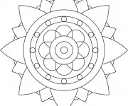 Coloriage Mandala Fleur stylisée