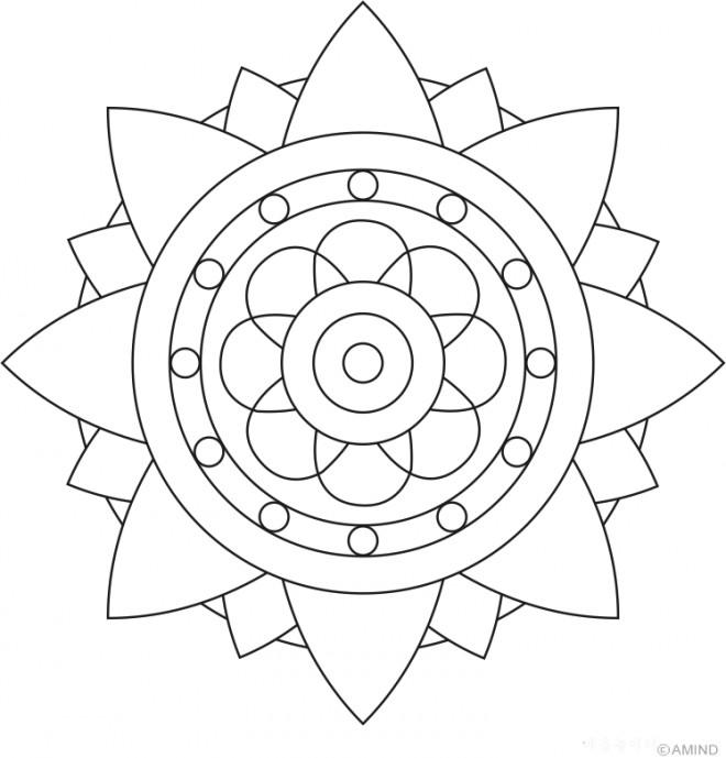 Coloriage et dessins gratuits Mandala Fleur stylisée à imprimer
