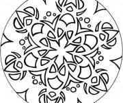 Coloriage Mandala fleuri Facile