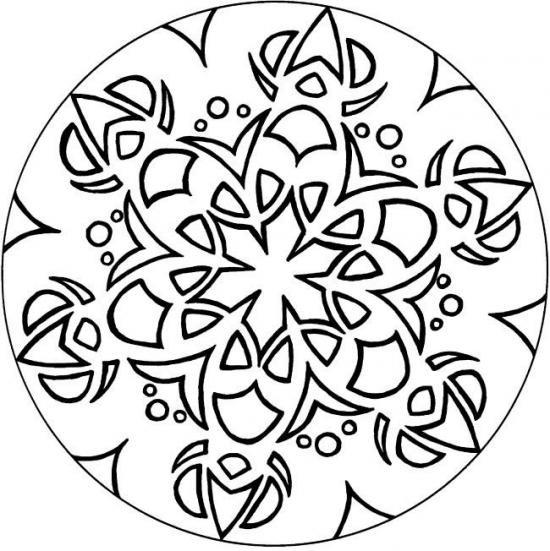 Coloriage et dessins gratuits Mandala fleuri Facile à imprimer