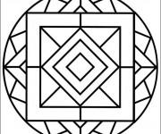 Coloriage Mandala Formes Facile