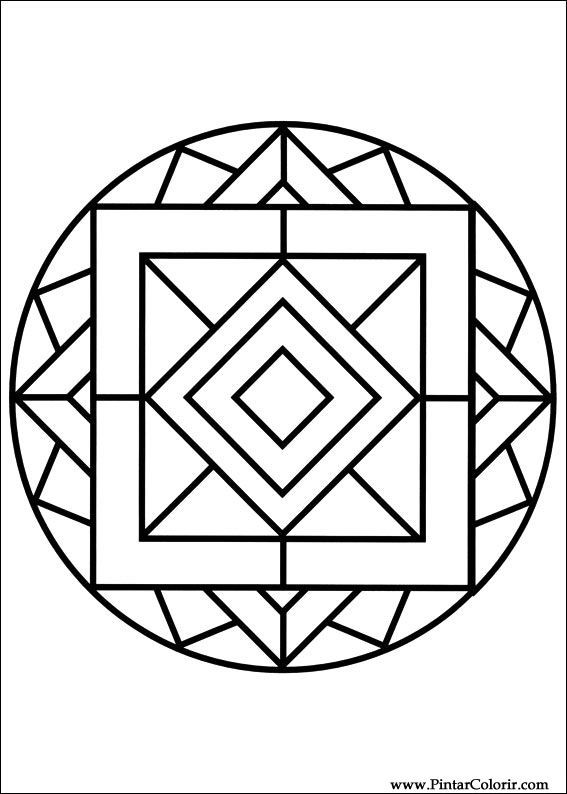 Coloriage et dessins gratuits Mandala Formes Facile à imprimer