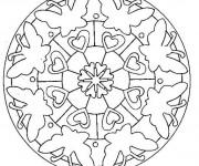 Coloriage Mandala Papillon et Coeur
