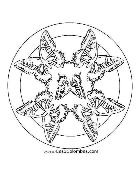 coloriage mandala papillon facile dessin gratuit imprimer. Black Bedroom Furniture Sets. Home Design Ideas