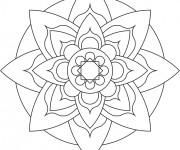 Coloriage Mandala Pétale de Fleur  Facile