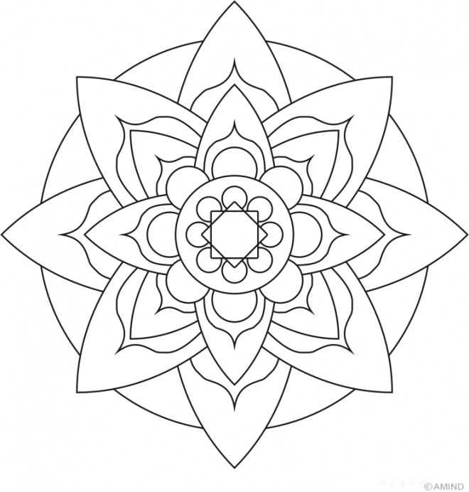 related simple mandalas coloring pages - photo#38