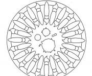 Coloriage Mandala Pinceau Facile