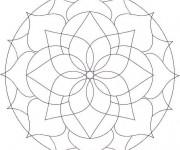 Coloriage Mandala stylisé adulte