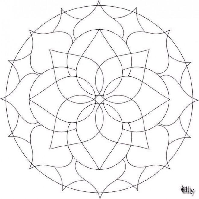 Coloriage et dessins gratuits Mandala stylisé adulte à imprimer