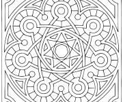 Coloriage Mandala très facile