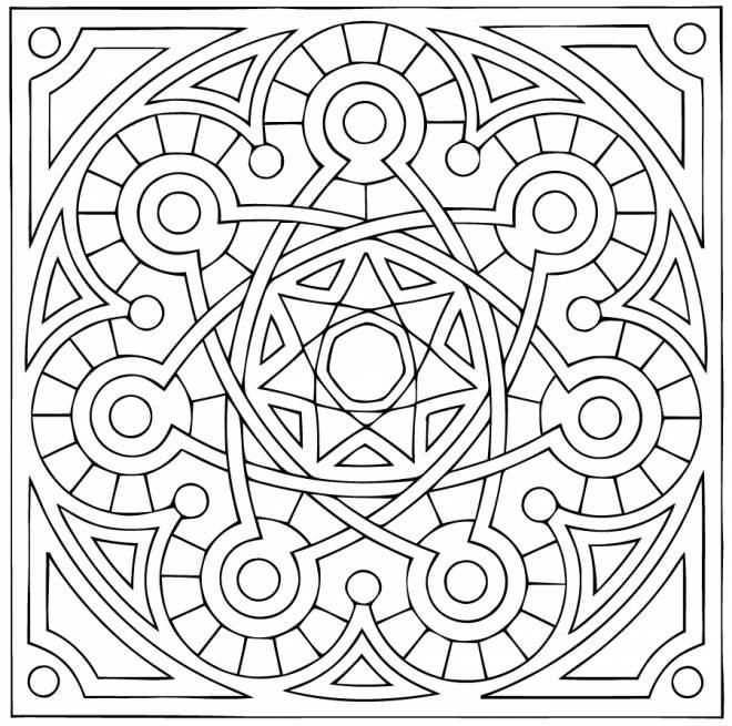 Coloriage et dessins gratuits Mandala très facile à imprimer