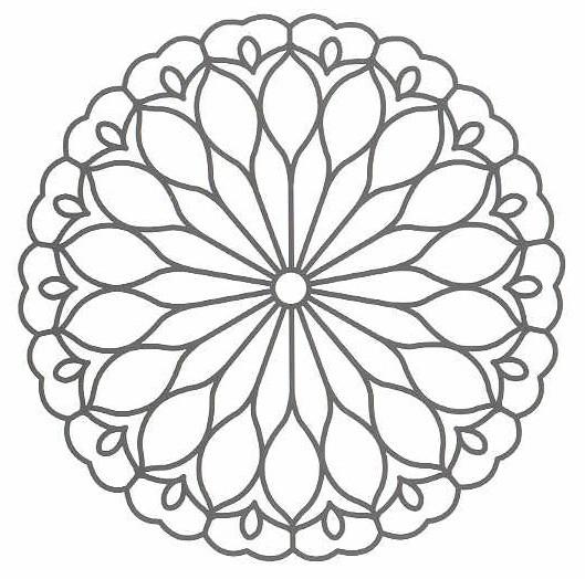 Coloriage Rose Mandala Facile dessin