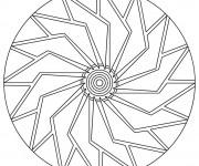 Coloriage Simple Mandala en Ligne