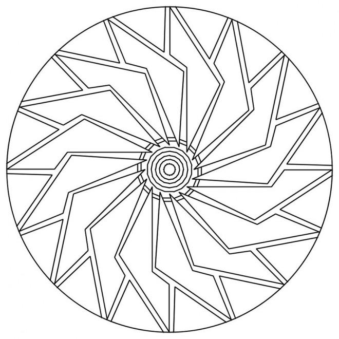 Coloriage et dessins gratuits Simple Mandala en Ligne à imprimer