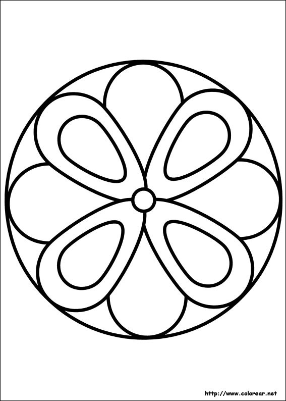 Coloriage Mandala Fleur Facile Dessin Gratuit A Imprimer