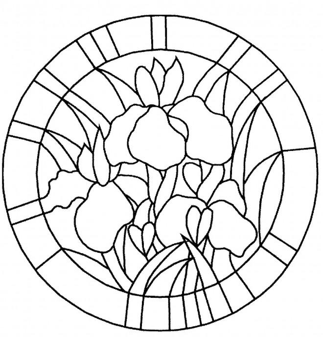 Coloriage et dessins gratuits Mandala Fleur stylisé à imprimer