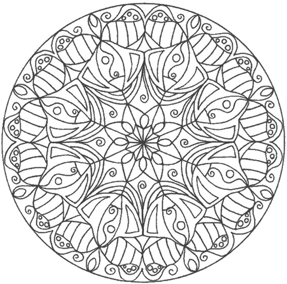 coloriage mandala fleurs pour les grands dessin gratuit imprimer. Black Bedroom Furniture Sets. Home Design Ideas