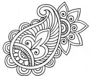 Coloriage Fleurs Mandala à colorier