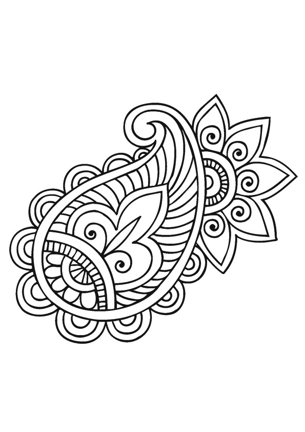 Coloriage et dessins gratuits Fleurs Mandala à colorier à imprimer