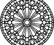 Coloriage dessin  Mandala Facile 43