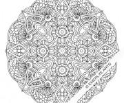 Coloriage et dessins gratuit Mandala Fleur difficile à imprimer à imprimer