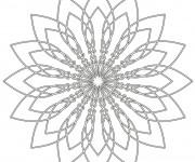Coloriage dessin  Mandala Fleurs 1