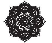Coloriage dessin  Mandala Fleurs 10