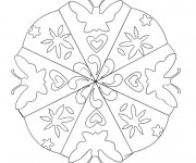 Coloriage dessin  Mandala Fleurs 11