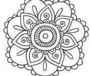 Coloriage dessin  Mandala Fleurs 7
