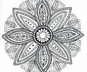 Coloriage et dessins gratuit Mandala Fleurs Adulte Dessin à imprimer