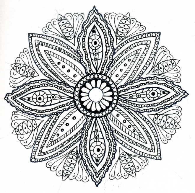 Coloriage mandala fleurs adulte dessin dessin gratuit imprimer - Coloriage fleur mandala ...