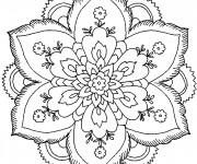 Coloriage et dessins gratuit Mandala Fleurs Artistique à imprimer