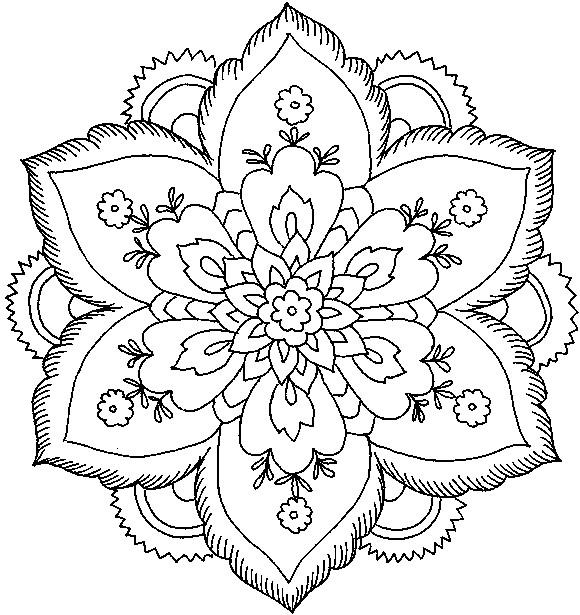 Coloriage Mandala Fleurs Artistique Dessin Gratuit A Imprimer