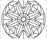 Coloriage et dessins gratuit Mandala Fleurs crystalisé à imprimer