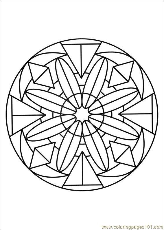 Coloriage Mandala Fleurs crystalisé dessin gratuit à imprimer