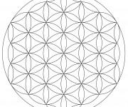 Coloriage et dessins gratuit Mandala Fleurs Géométrique à imprimer