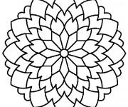 Coloriage et dessins gratuit Mandala Fleurs Multi-Pétales à imprimer